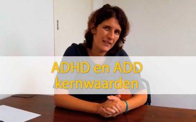 ADHD en ADD kernwaarden